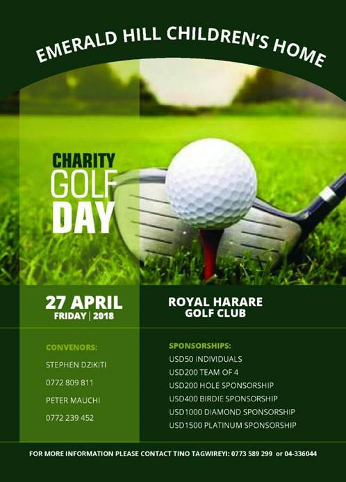 Charity Golf Day For Emerald Hill Children's Home