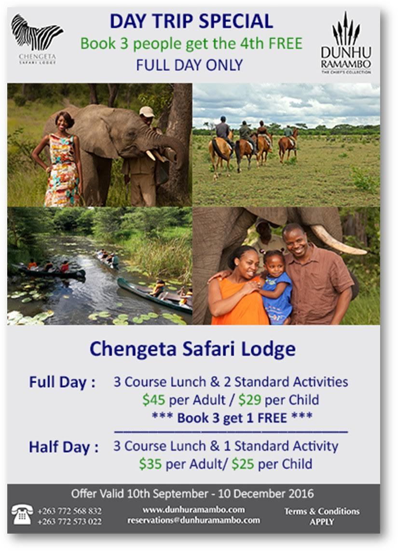 Chengeta Safari Lodge - Day Trip Special