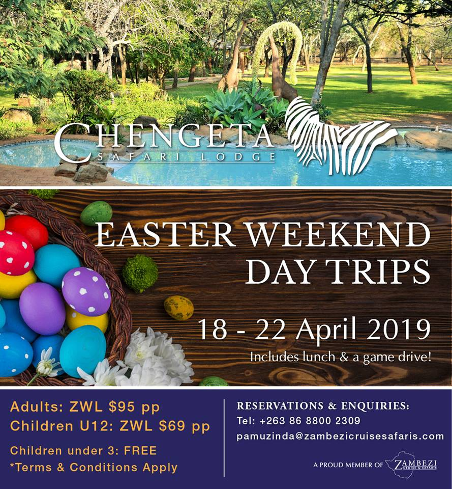 Chengeta Safari Lodge Easter Weekend Day Trip Specials
