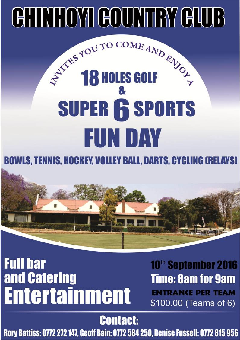 Chinhoyi Country Club - Super 6 Sports Fun Day