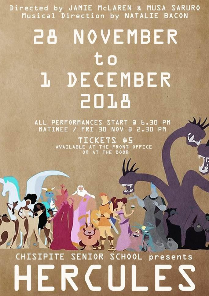 Chisipite School's Fun Year-End Musical Hercules