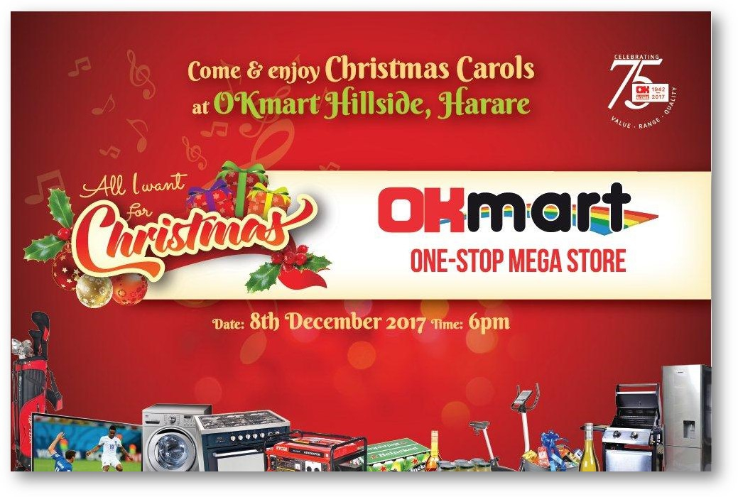 Come & Enjoy Christmas Carols @ OKmart Hillside, Harare