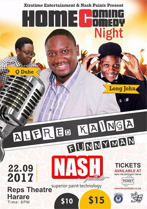 Comedy Night With USA-Based Comedian Alfred Kainga; Harare