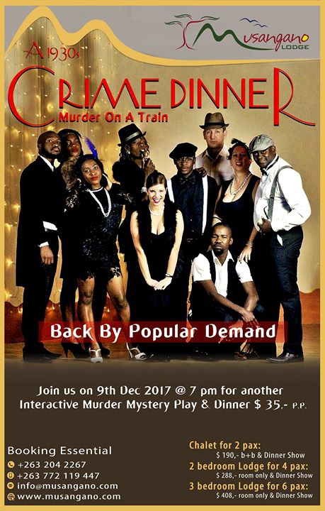 Crime Mystery Dinner & Play ' Murder on a Train'
