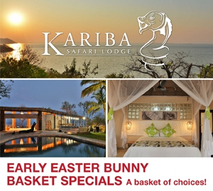Early Easter Bunny Basket Specials for Kariba Safari Lodge