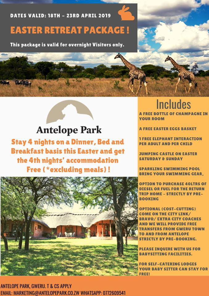 Antelope Park Easter Retreat Package 1