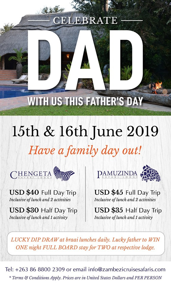 Father's day at Pamuzinda, Chengeta Lodge
