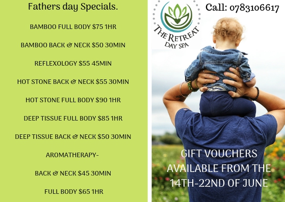 Father's Day Special At The Retreat Day Spa