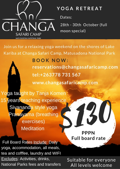 Full Moon Yoga Retreat at Changa - October 2016