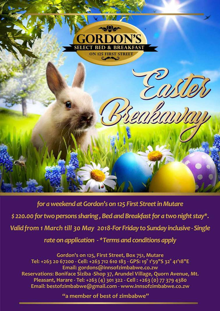 Gordon's Select Bed and Breakfast - Easter Breakaway