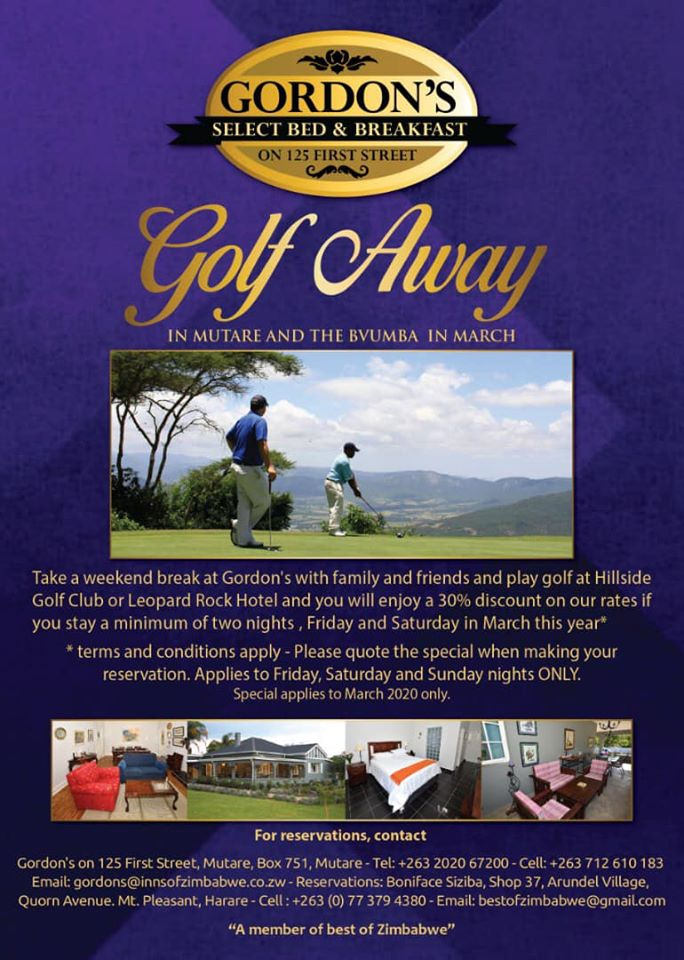 Gordon's Select Golf Away