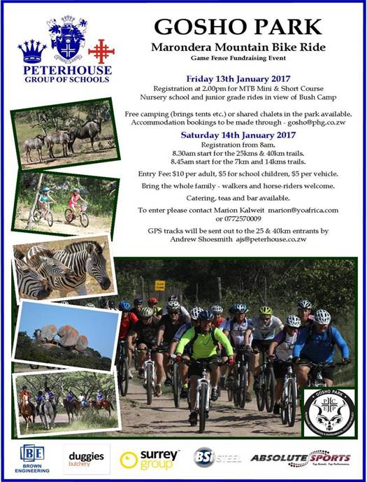 Gosho Park Marondera Mountain Bike Ride