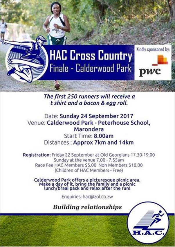 HAC Cross Country Finale at Calderwood Park
