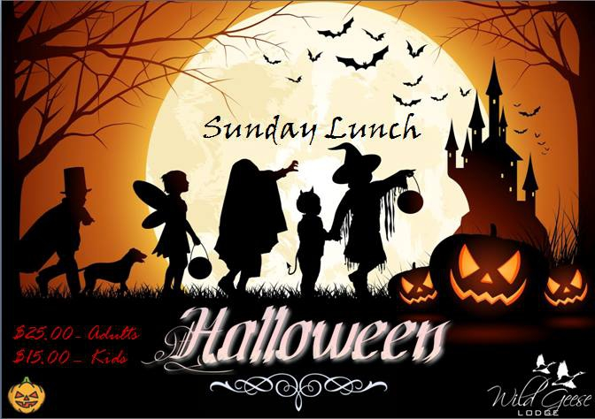 Halloween Sunday Lunch At Wild Geese Lodge