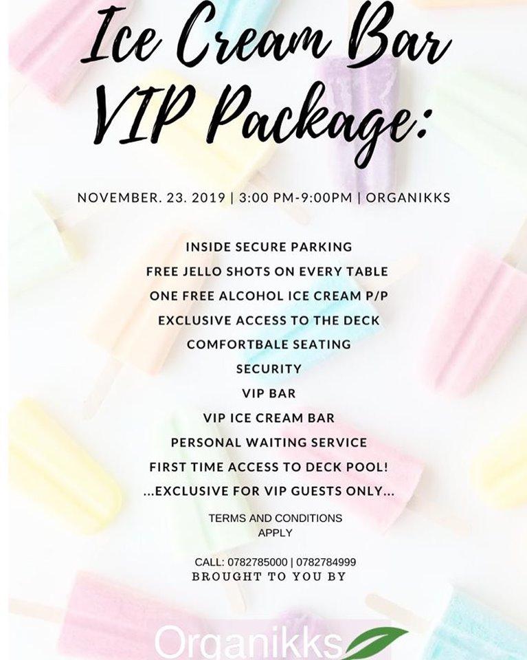 Icecream Bar VIP Package