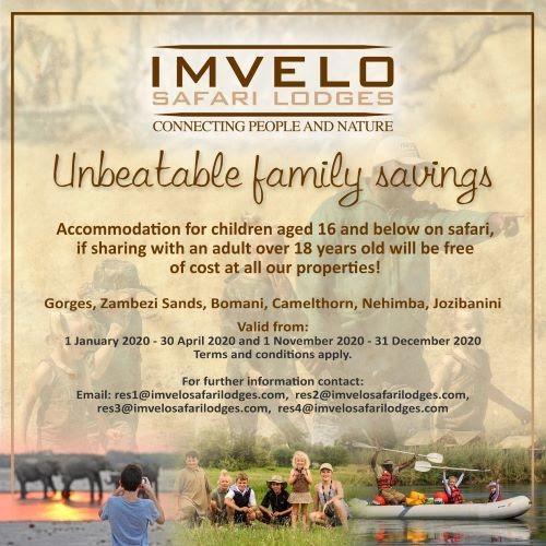Imvelo Safari Lodge Unbeatable Family Savings