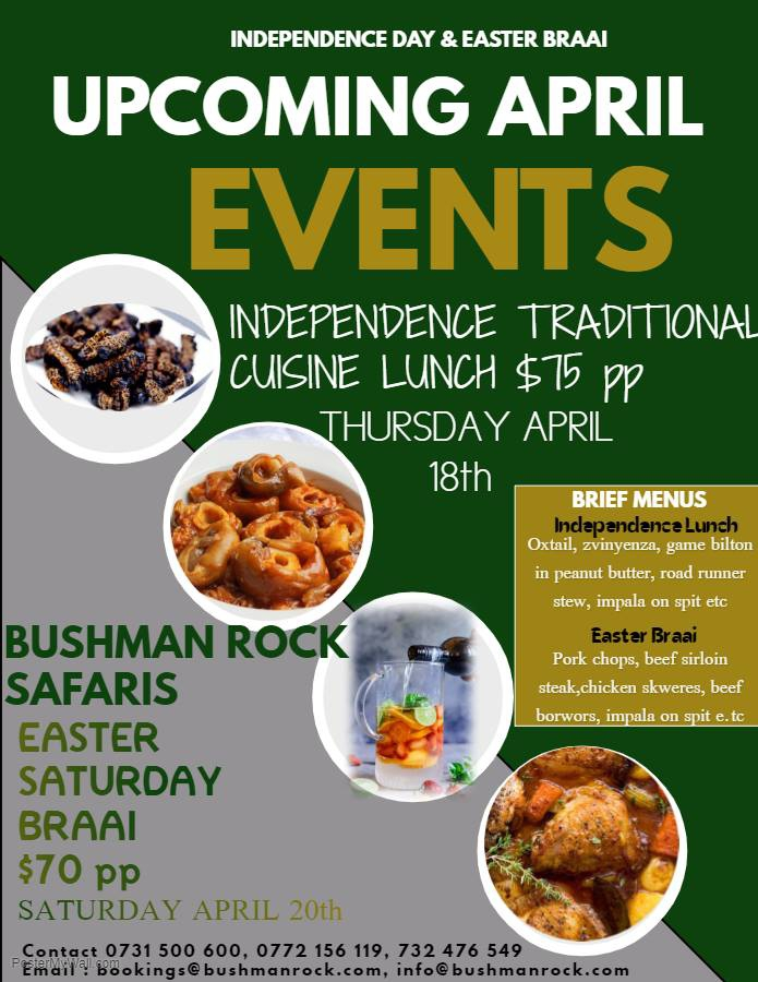 Independence Lunch and Easter Braai at Bushman Rock