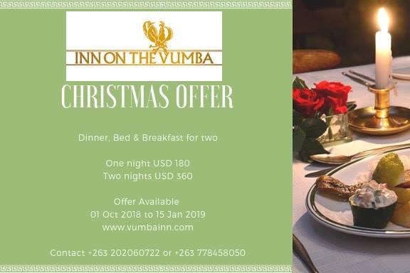 Inn On The Vumba Christmas Offer