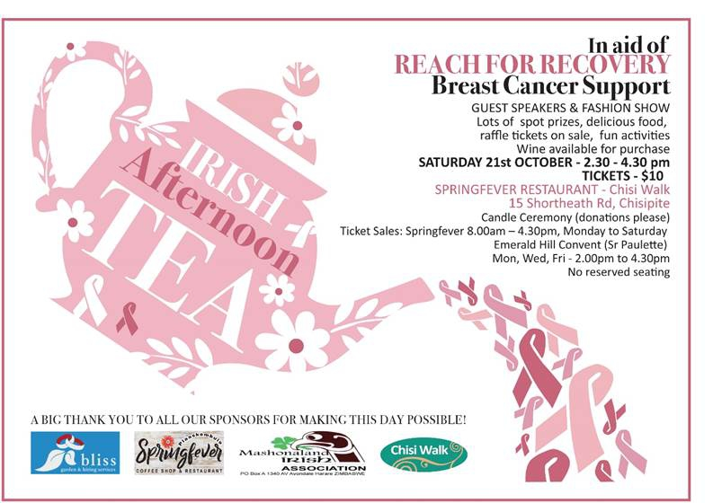 Irish Afternoon Tea - Breast Cancer Support
