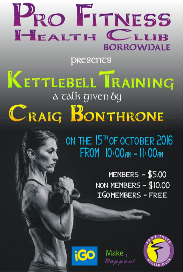 Kettlebell Training At Pro-Fitness Health Club Borrowdale