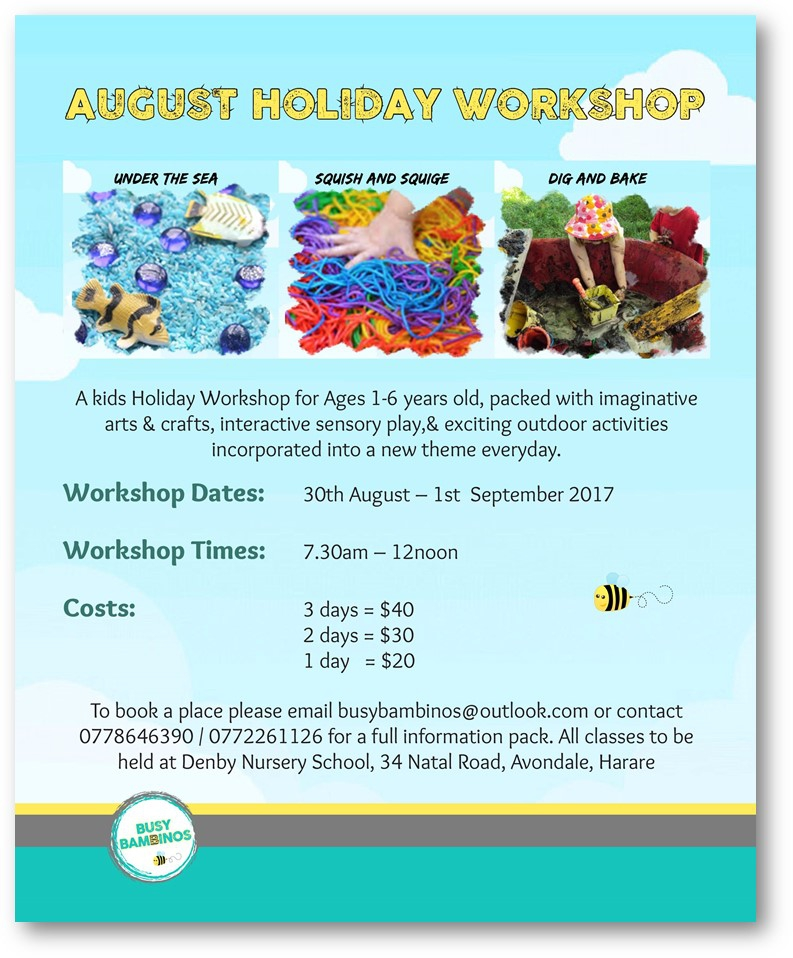 Kids August Holiday Workshop