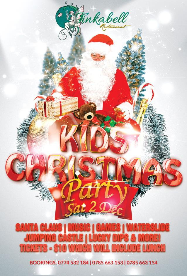 Kids Christmas Party At Tinkabell