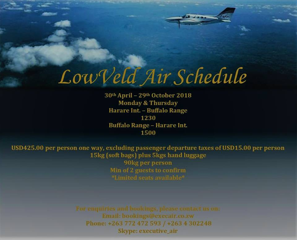 Lowveld Air Schedule