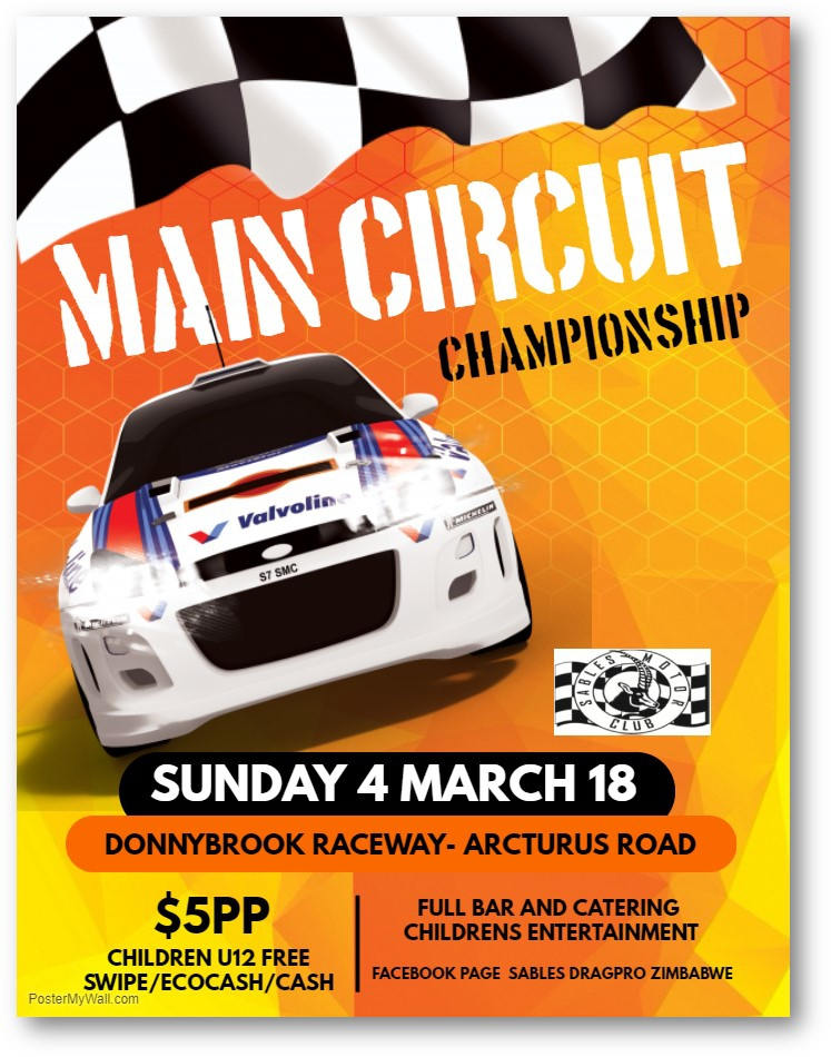 Main Circuit Championship - Sunday 4 March 2018