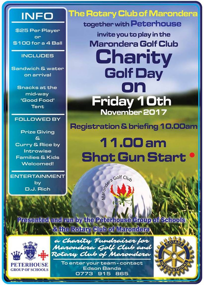 Marondera Charity Golf Day 2017