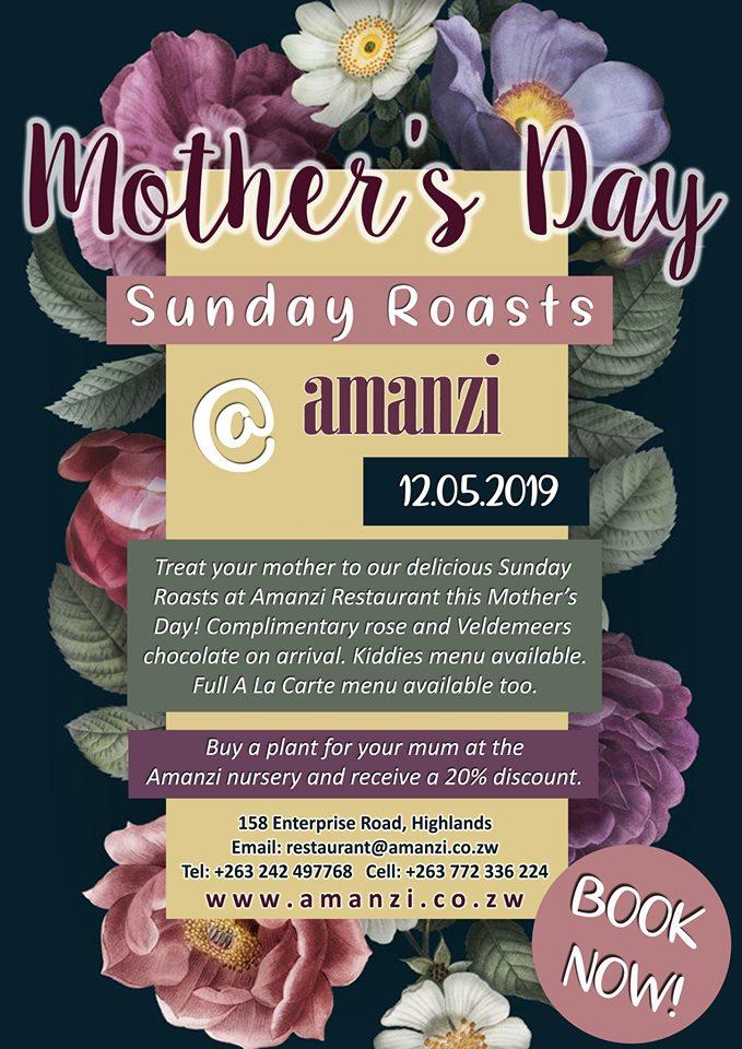 Mothers' Day at Amanzi Restaurant