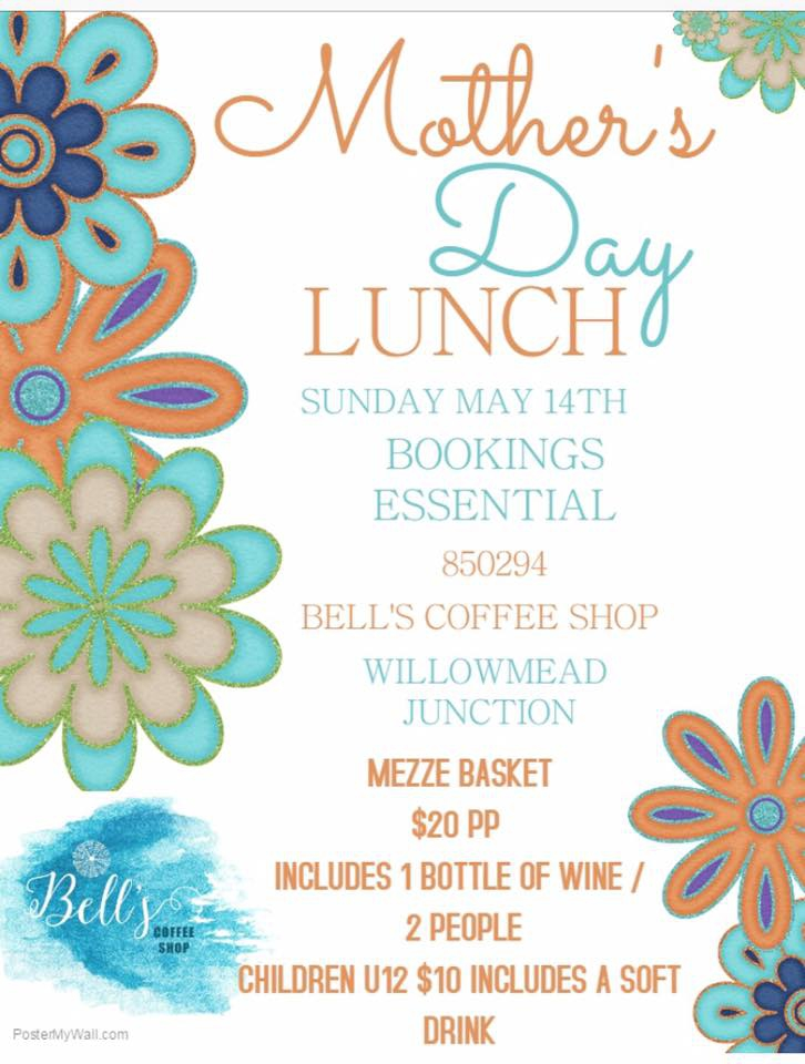 Mother's Day Lunch at Bell's Coffee Shop