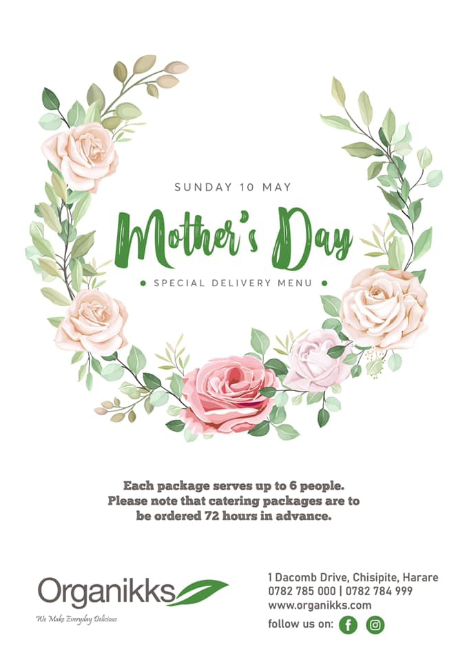 Mother's Day Special Delivery Menu