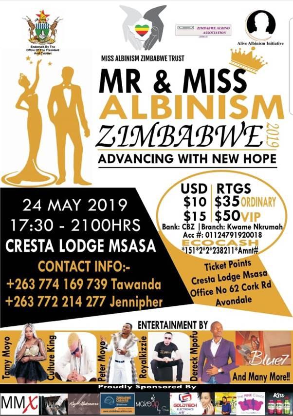 Mr & Miss Albinism Zimbabwe 2019