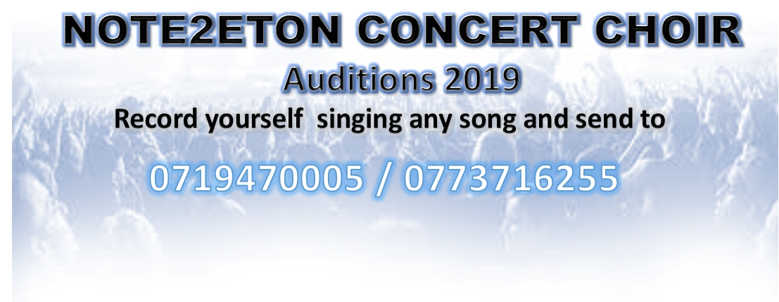 Note2etoN Concert Choir - Auditions 2019