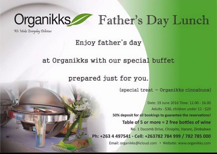 Organikks Fathers Day Lunch