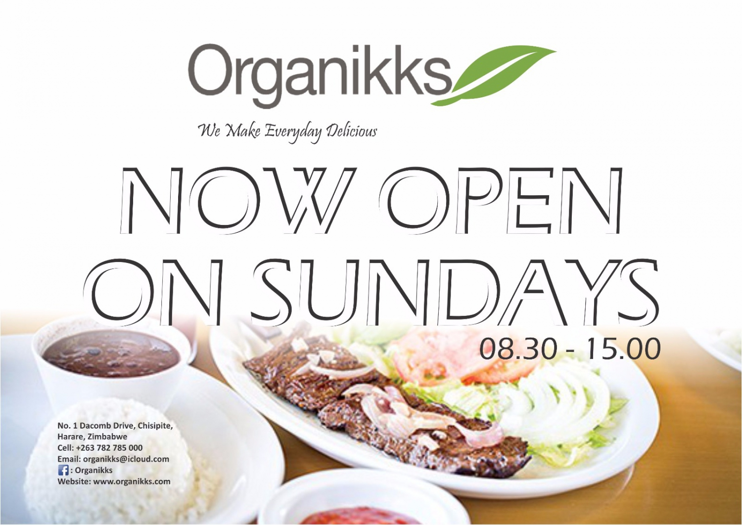 Organikks Now Open On Sundays