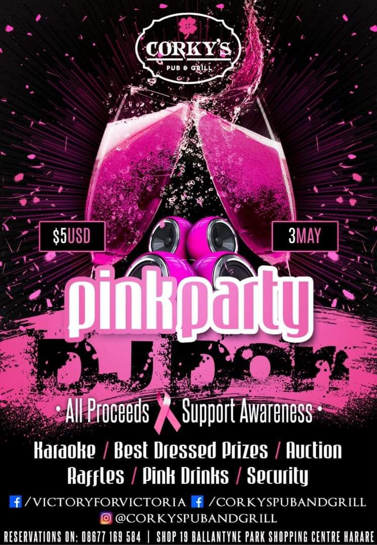 Pink Party At Corky's Pub and Grill
