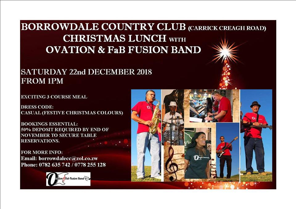 Pre-Christmas lunch at BCC with Ovation and FabFusion live