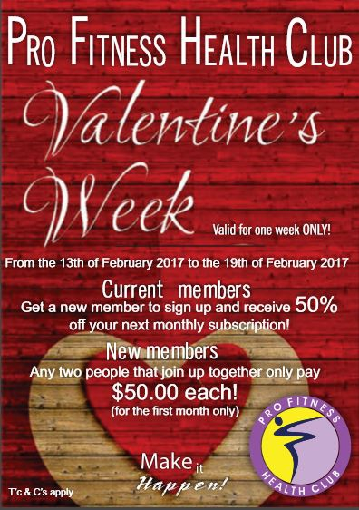 Pro Fitness Health Club Valentines Week