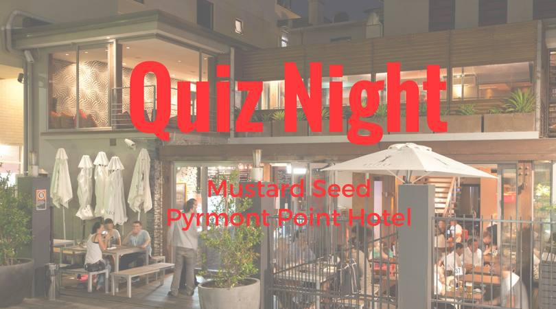 Quiz evening. The Mustard Seed,