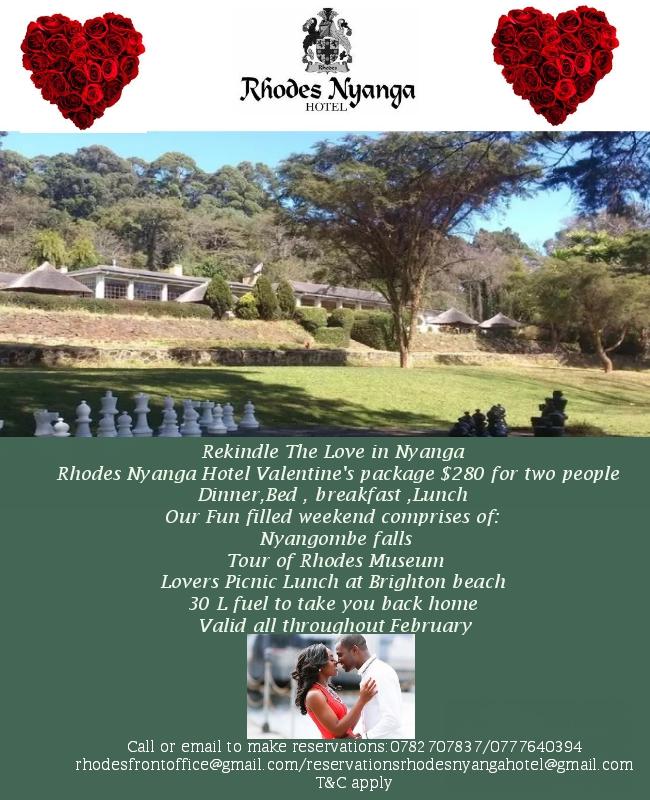 Rhodes Nyanga Hotel Valentine's Package