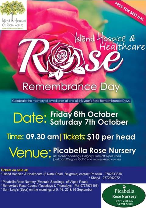 Rose Remembrance Day at Picabella Rose Nursery
