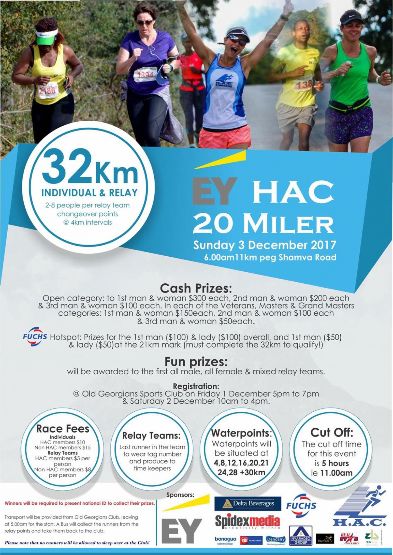 Running EY HAC 20 MILER - SUNDAY 3 DECEMBER 2017