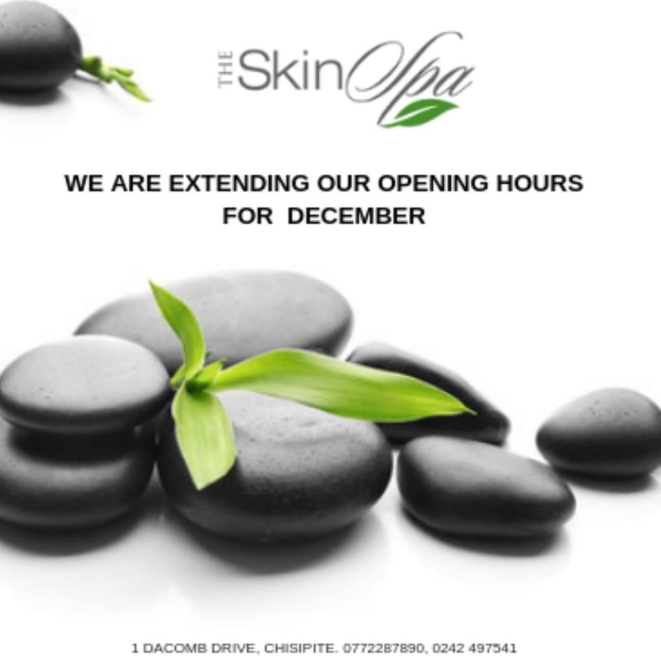 Skin Spa Christmas Festive Opening Times
