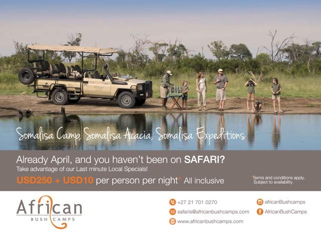 Somalisa Camp April Special.