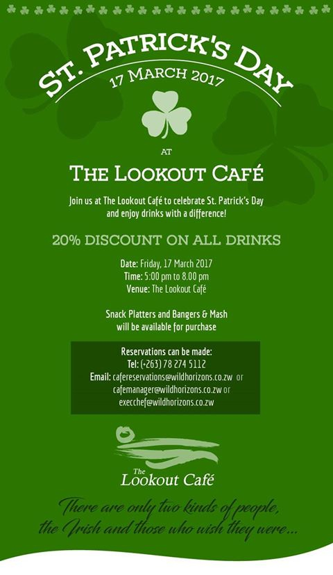 St Patrick's Day At Lookout Cafe