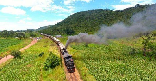 Steam Train to Chivero.