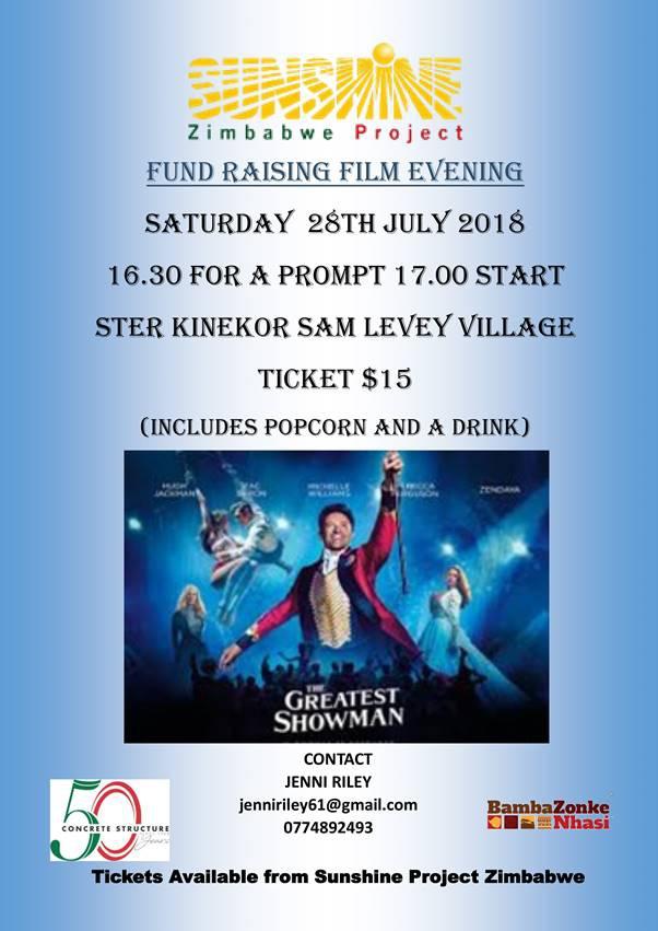 Sunshine Zimbabwe Project - Fund Raising Film Evening