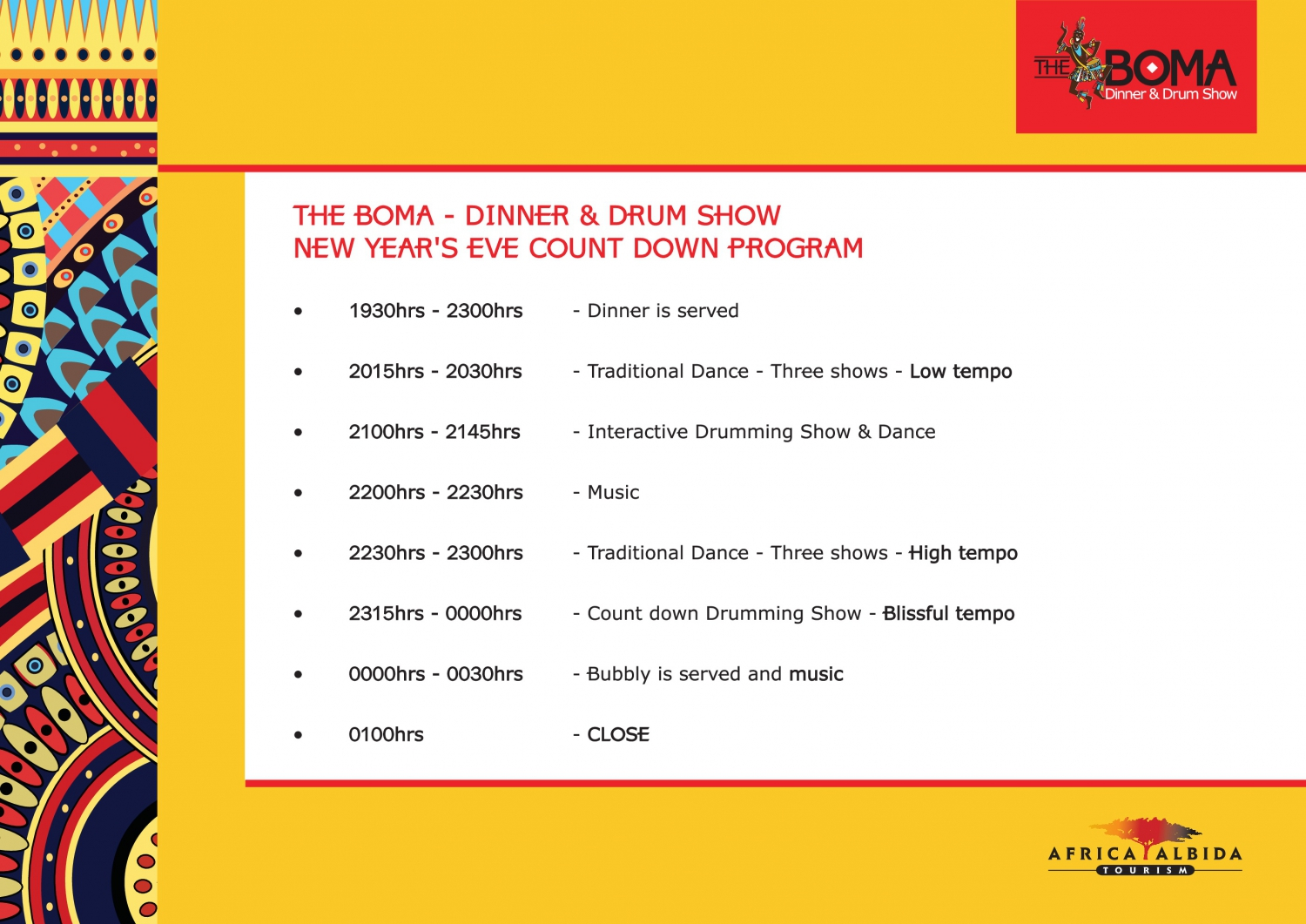 The Boma New Year Programme