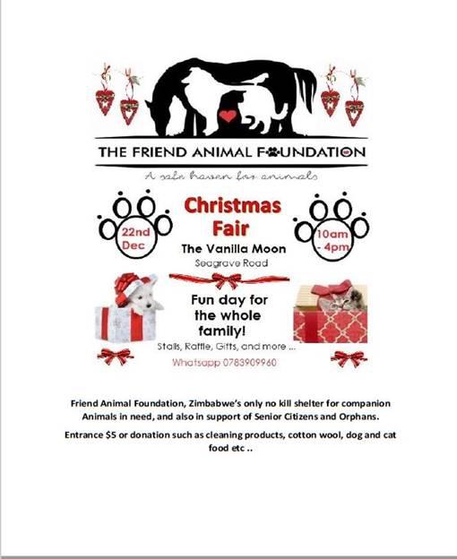 The Friend Animal Foundation Christmas Fair - 22 December 2018